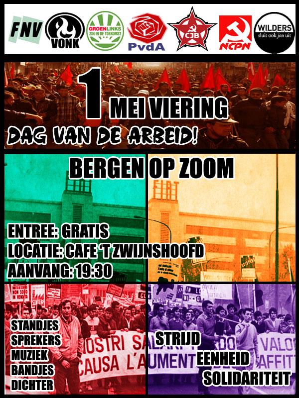 1 meiviering in Bergen op Zoom