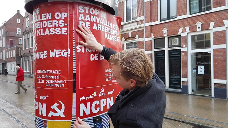 Demonstratie in Groningen: 'Strijd is de enige weg!'