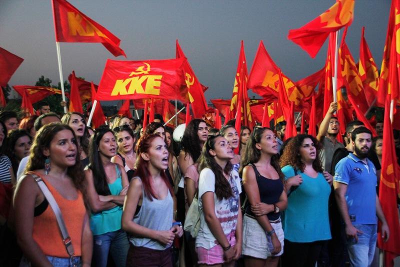 Solidariteitsverklaring met de Griekse jeugd en de KNE
