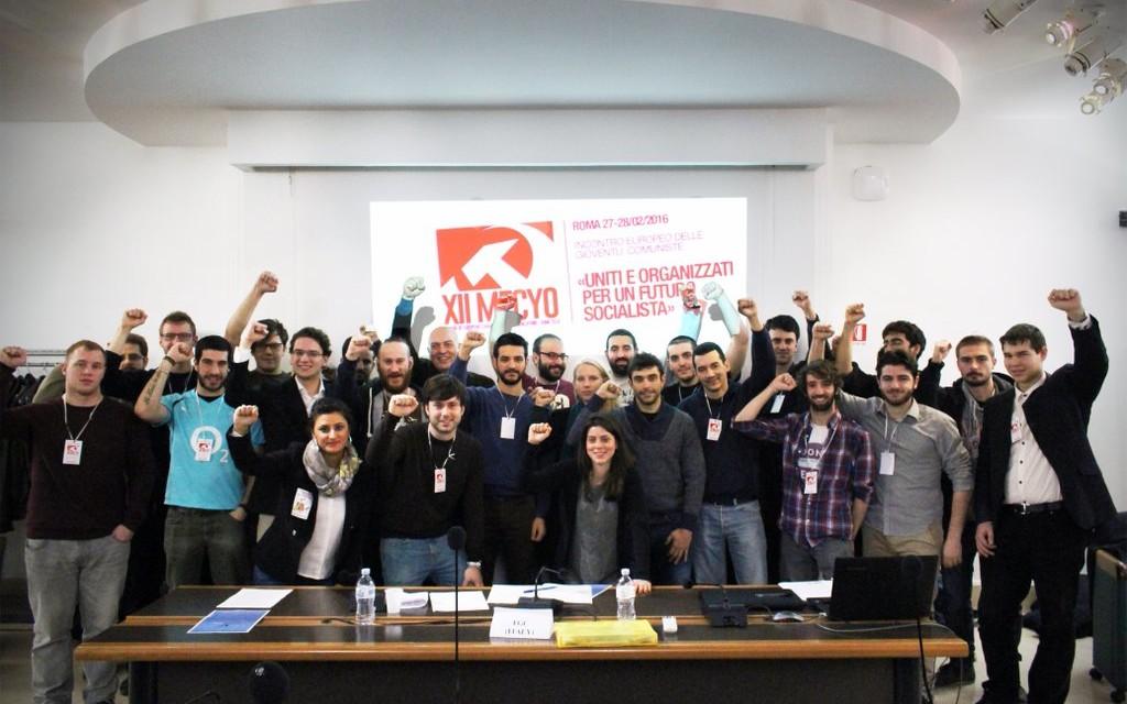 Gezamenlijke verklaring van de 12e Bijeenkomst van Europese Communistische Jongerenorganisaties