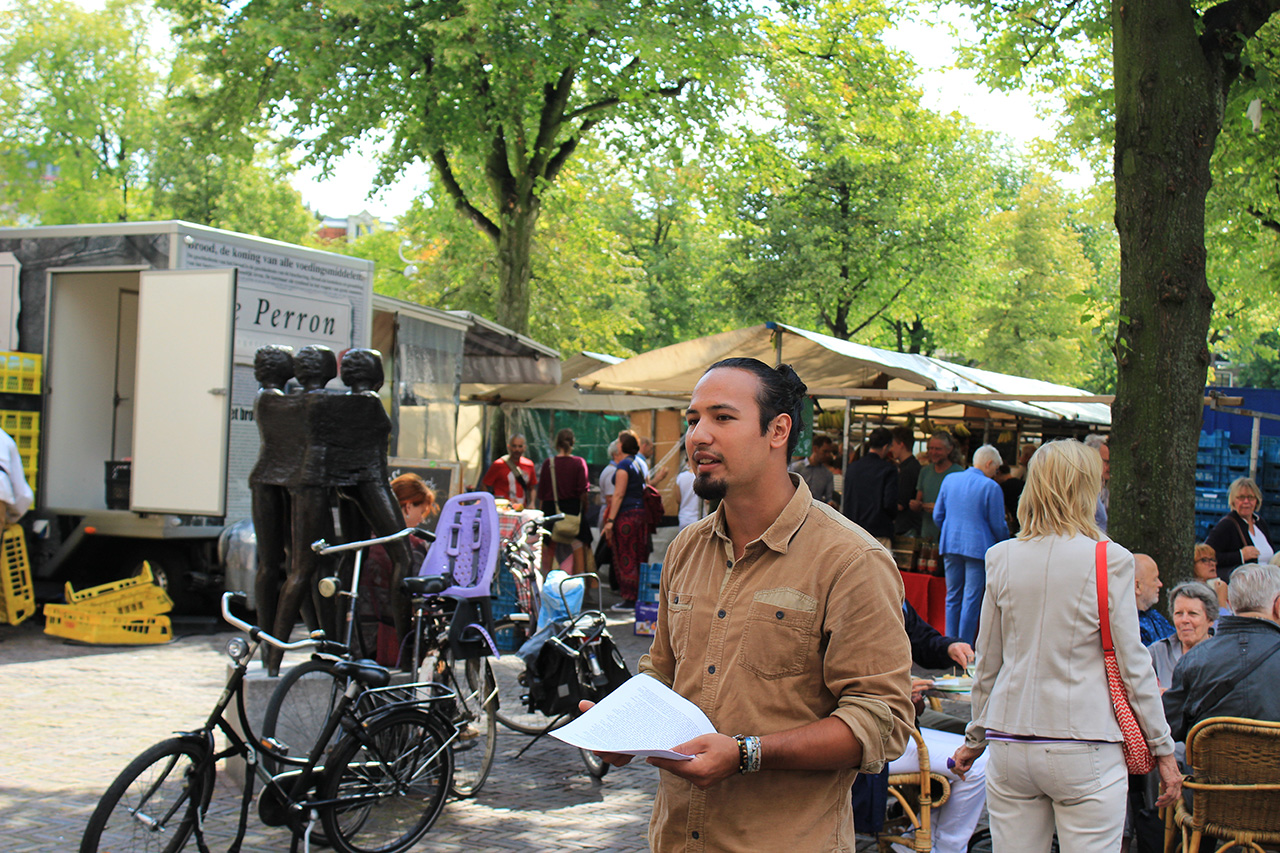 Rode Tour Amsterdam - Speech Noordermarkt