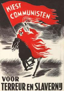 Anti-communistisch affiche in het nederlands uit de jaren 20