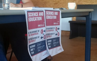 "Contribution of the CJB at the event ""Science and Education: In the interest of the monopolies, or in the interest of the people?"""