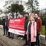 Actie bij Poolse ambassade tegen de vervolging van communisten