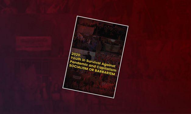 Brochure communistische jongerenorganisaties over de strijd van jongeren tijdens de pandemie