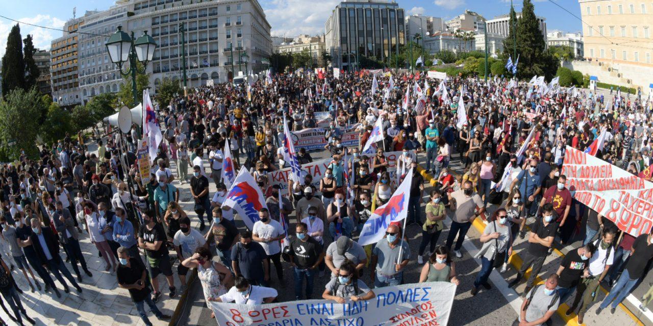 Massale staking tegen nieuwe arbeidswet in Griekenland