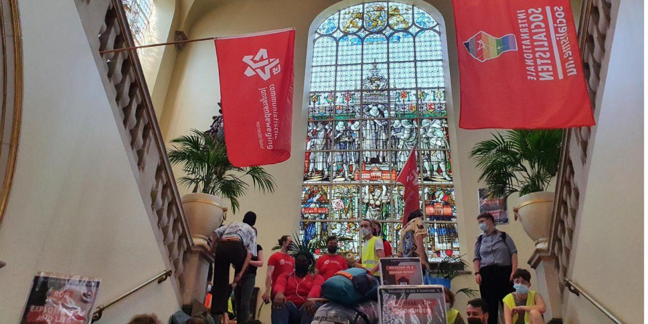 Bezetting in Groningen tegen woningnood Internationale Studenten